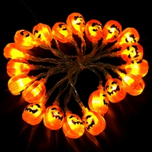2M LED Halloween Pumpkin Light Fairy String Lights 6.56ft Decoration With 20Leds
