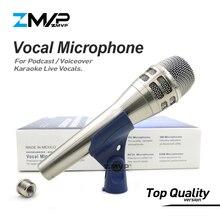 Cấp Một KSM8 Chuyên Nghiệp Năng Động Có Dây Siêu Cardioid KSM8N Mic Cho Hiệu Suất Sống Giọng Hát Karaoke Podcast Giai Đoạn