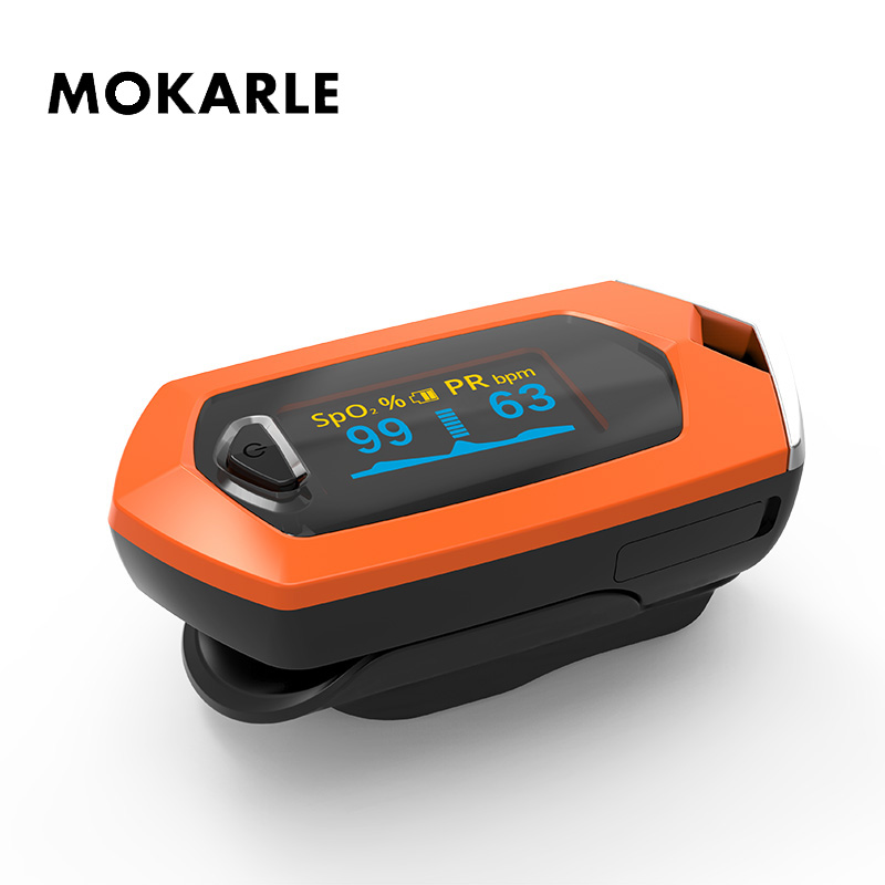 Blood Oxygen Pulsioximetro Heart Rate Monitor Rechargeable Finger Pulse Oximeter Spo2 Sports Built in Lithium Battery