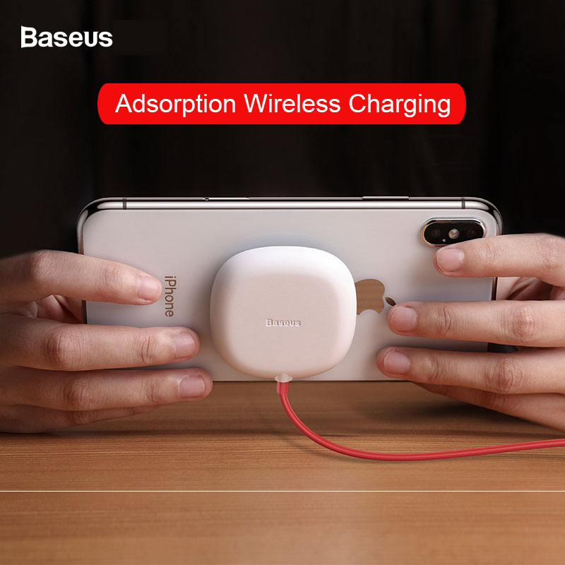 Baseus Quick Charge Wireless Charger 10W for Samsung S9 Fixed by Suckers Fast Wireless Charging 7 5W For iphone 8 8plus X in Mobile Phone Chargers from Cellphones Telecommunications
