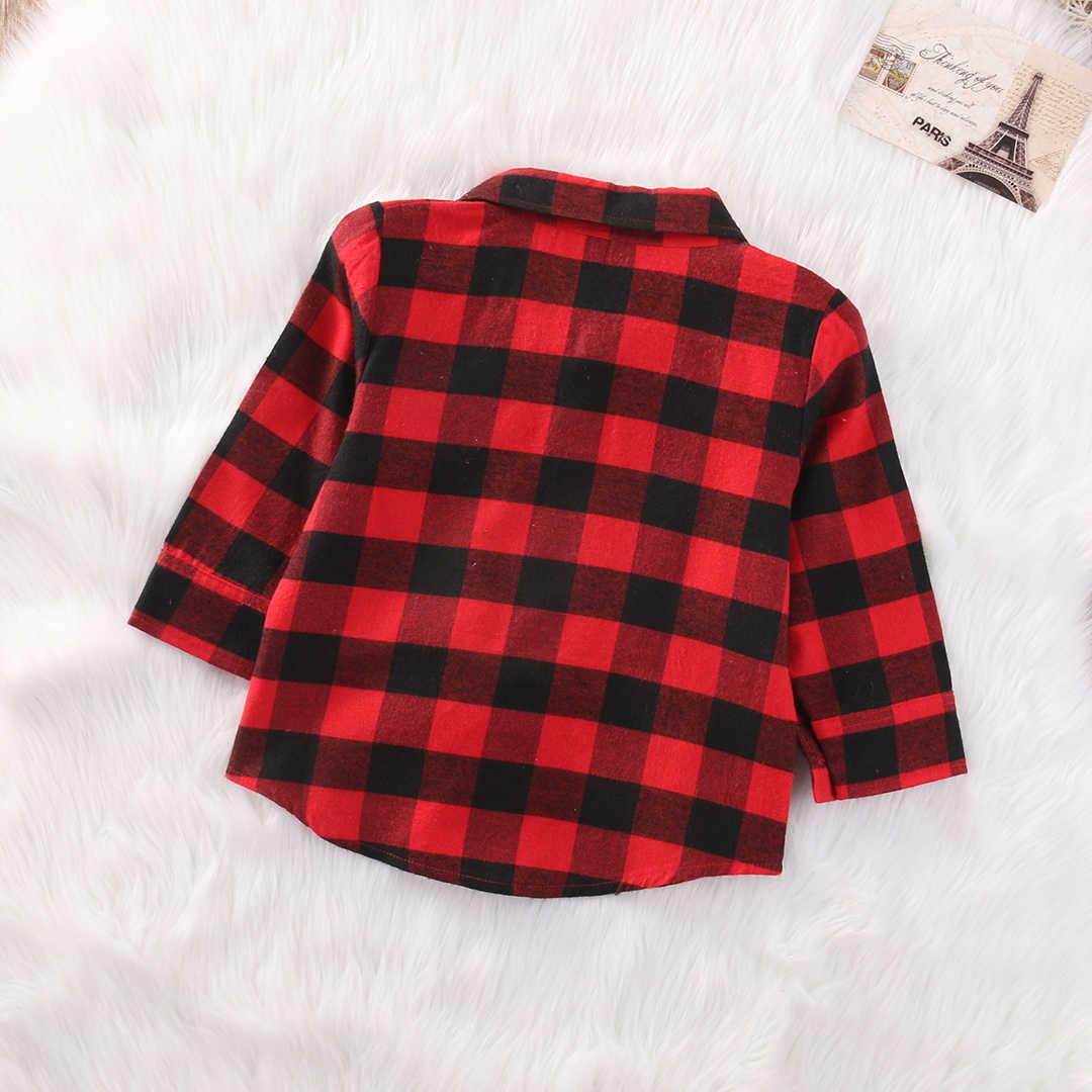 סגנון חדש בסתיו 2018 חמוד תינוק ילדים בני בנות ארוך שרוול חולצה שמיכות פליז שיקים חולצות חולצה החוצה ללבוש מעילים בגדים