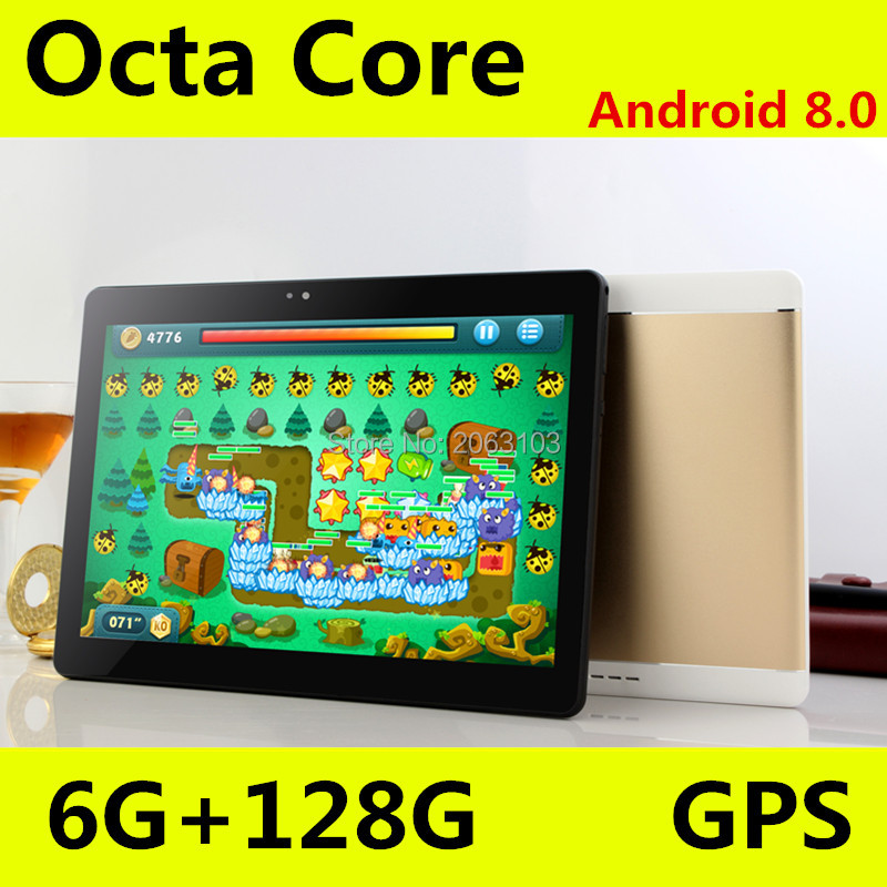 10.1' 4G Phone Call Tablets Android 8.0 OctaCore 6G+128G Tablet Pc Built-in 3G Dual SIM Card laptop WiFi GPS Bluetooth FM tablet