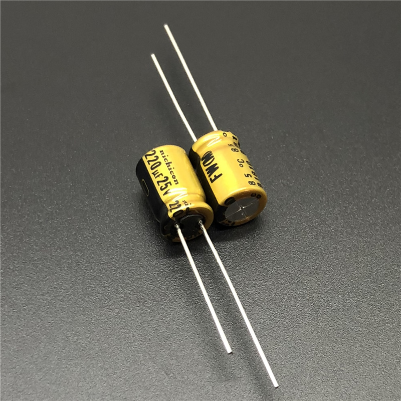 10Pcs/50Pcs 220uF 25V NICHICON FW Series 8x11.5mm 25V220uF HIFI Audio Aluminum Electrolytic Capacitor