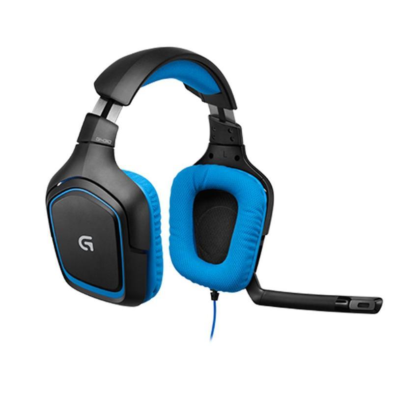 Logitech G430 7.1 Surround Gaming oreillettes rotatives casque avec Microphone réglable anti-bruit pour PC