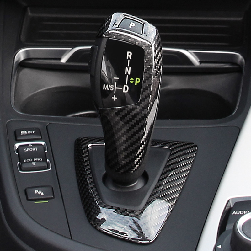 Для BMW 1 2 3 4 5 серии F20 F30 F31 F34 углеродное волокно автомобиля ручка переключения передач головка рамка Крышка-in Лепнина для интерьера from Автомобили и мотоциклы on AliExpress - 11.11_Double 11_Singles' Day