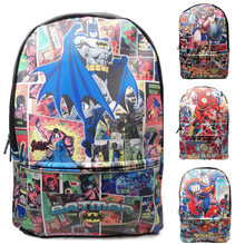 5e784b980a DC Comics Justice League Superman Batman Wonder Woman The Flash Borse da  Scuola Cuoio DELL'