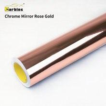 Carbins розовое золото хром зеркало винил для всего тела автомобиля обертывание