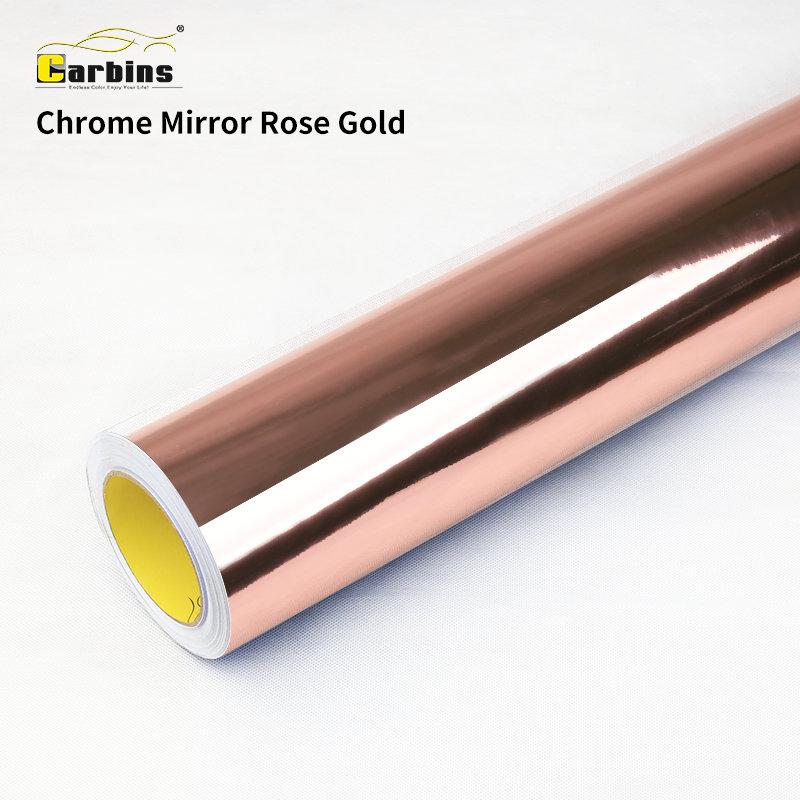 Carbins Rose Gold Chrome Mirror Vinyl For Full Body Car Wrap