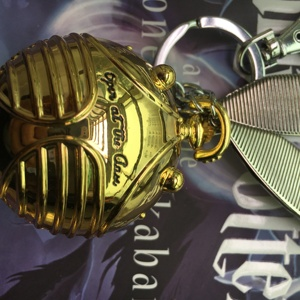 Image 5 - Golden Snitch Keychain Necklace Resurrection Stone Ring Set Wizard  Quidditch Cosplay Kids Halloween Christmas Birthday Gift
