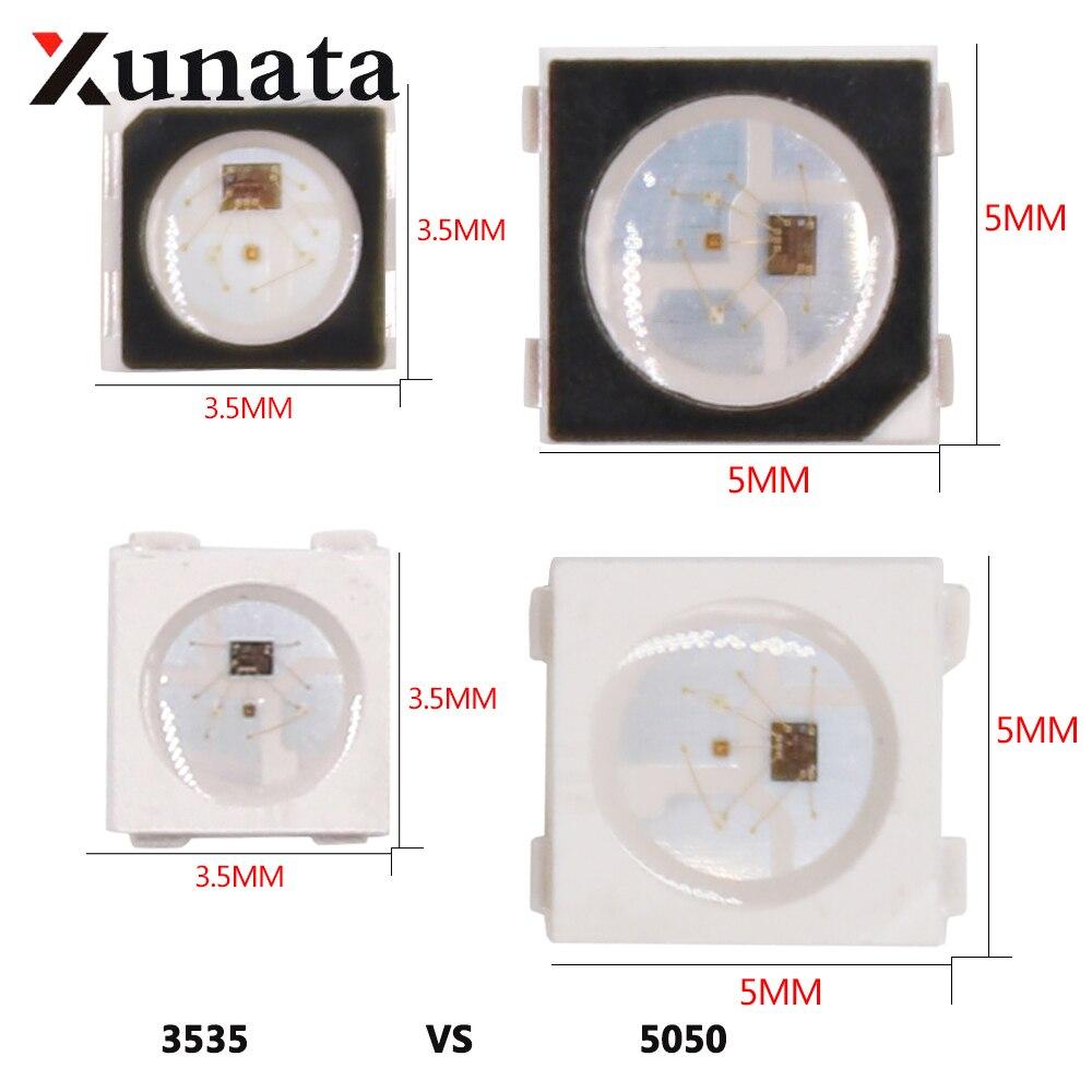 DC5V Individually Addressable SK6812 Mini 3535 5050 SMD RGB LED Chip Digital Pixels White/Black Same As WS2812B Leds Bead