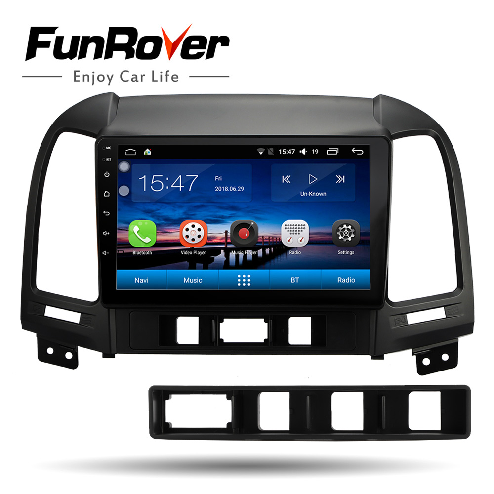 Funrover 2 din Android 8 0 Car Radio Multimedia video player gps navigation For Hyundai Santa