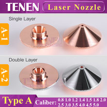 Laser Nozzle Type A Dia.28mm H15 Single/Double Layer Chrome-Plated Caliber 0.8-5.0 OEM Precitec For CNC Fiber Laser Cutting Head(China)
