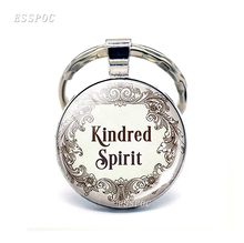 Anne of Green Gables Quote Keychain Friendship Jewelry Glass Dome Pendant Best Friend Literary Quote Keyring Key Chain Gift 1pc earth airplane keychains no matter where pendant travel keyring friendship best friend jewelry diy handmade