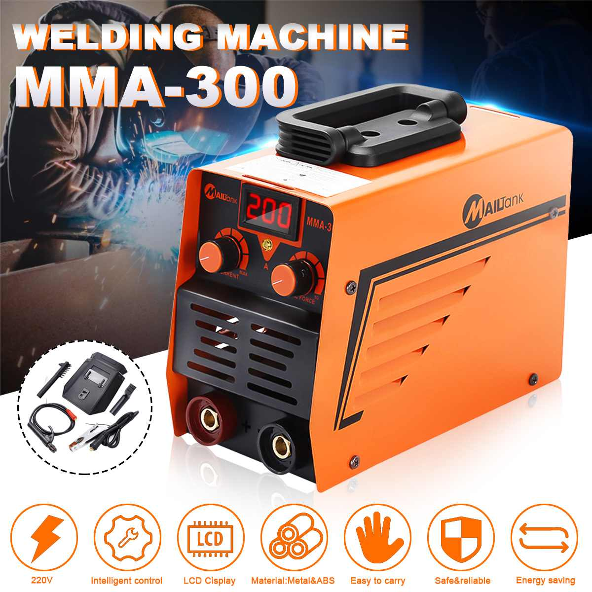220V 300A ARC Electric Welding Machine MMA-300 IGBT Inverter Rod Stick Welders 220V 300A ARC Electric Welding Machine MMA-300 IGBT Inverter Rod Stick Welders
