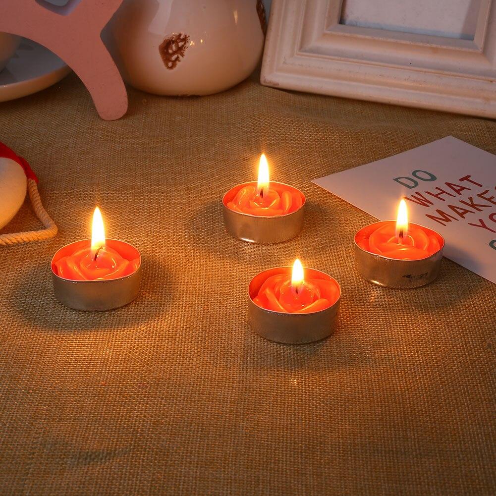 Красочный розовый/Красный воск Свеча для принадлежности для свадебной вечеринки для дома и сада День Святого Валентина орнамент фестиваль для гаджета