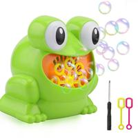 Green Cute Frog Automatic Bubble Machine Blower Maker Kids Children Indoor Outdoor Summer Parties Toys CAS9330A