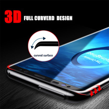 3D Protective Glass On The For Samsung Galaxy S8 s7 s8 s9 Plus Tempered Glas Screen Protector Protection tremp