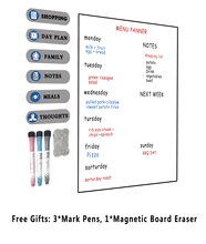 купить Magnet Whiteboard A4 Soft Magnetic Board, Dry Erase Drawing and Recording Board for Fridge Refrigerator with Free Gift(A4) по цене 419.44 рублей