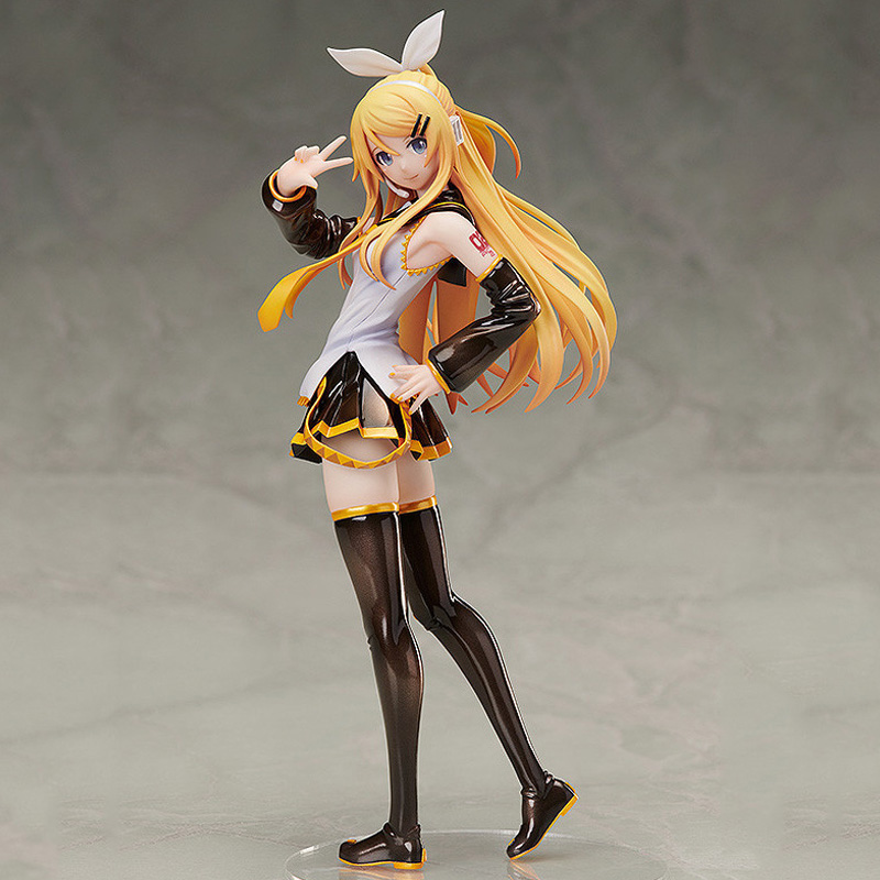 Kagamine Rin Adult Hatsune Miku Painted Figure Toy Luka Action Figure Sexy Beautiful Girls Toys Christmas Gift For Children Kids