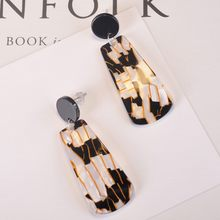 MESTILO Ladies Statement Acrylic Drop Earrings For Women 2019 New Geometric Black Long Earring Fashion Jewelry Accessories(China)