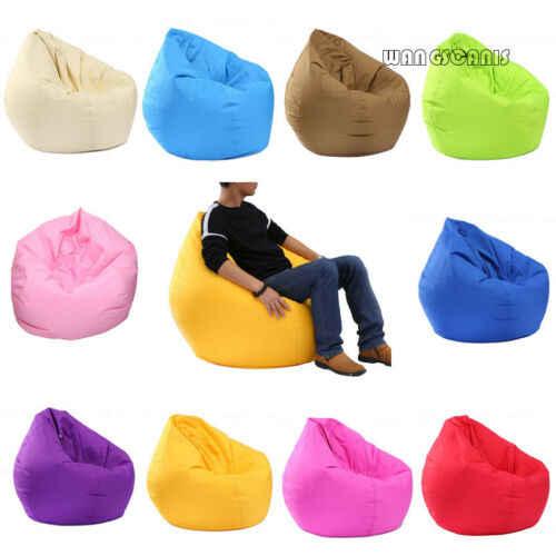 Focusnorm Impermeável Tampa Da Cadeira do Saco de Feijão Oxford De Armazenamento Zipper Beanbag Bicho de pelúcia Brinquedos Macios Sólidos Causal Do Bebê Assentos Sofá
