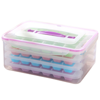 New 96 Grids 4 Layers Portable Transparent Ice Cube Mold Box Ice Cube Tray With Ice Shovel Diy Cocktail Juice Maker Square Mould