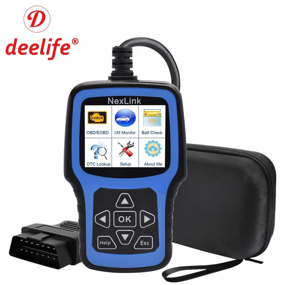 Ferramenta de Diagnóstico Do Carro OBD2 Deelife 2 Auto Profissional Leitor de Código de Diagnóstico OBD Scanner Automotivo para ODB II ODB2 EOBD OBDII