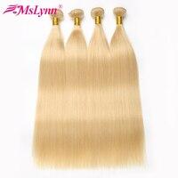 613 Bundles Blonde Bundles Brazilian Hair Weave Bundles Straight Hair Bundles 100% Human Hair Extensions Non Remy Hair 1/3/4
