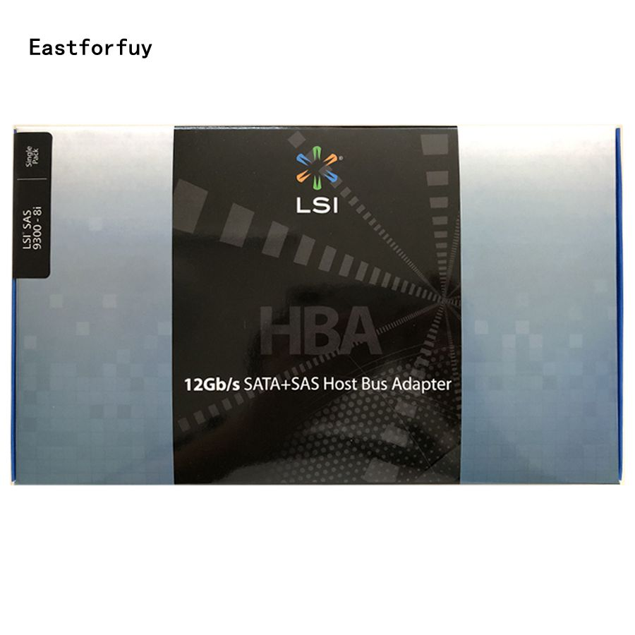 Eastforfuy Avago LSI SAS 9300-8i LSI00344 8 port Host Bus Adapter SFF8643  NO cache HBA PCI-E3 0 x8 Controller Card