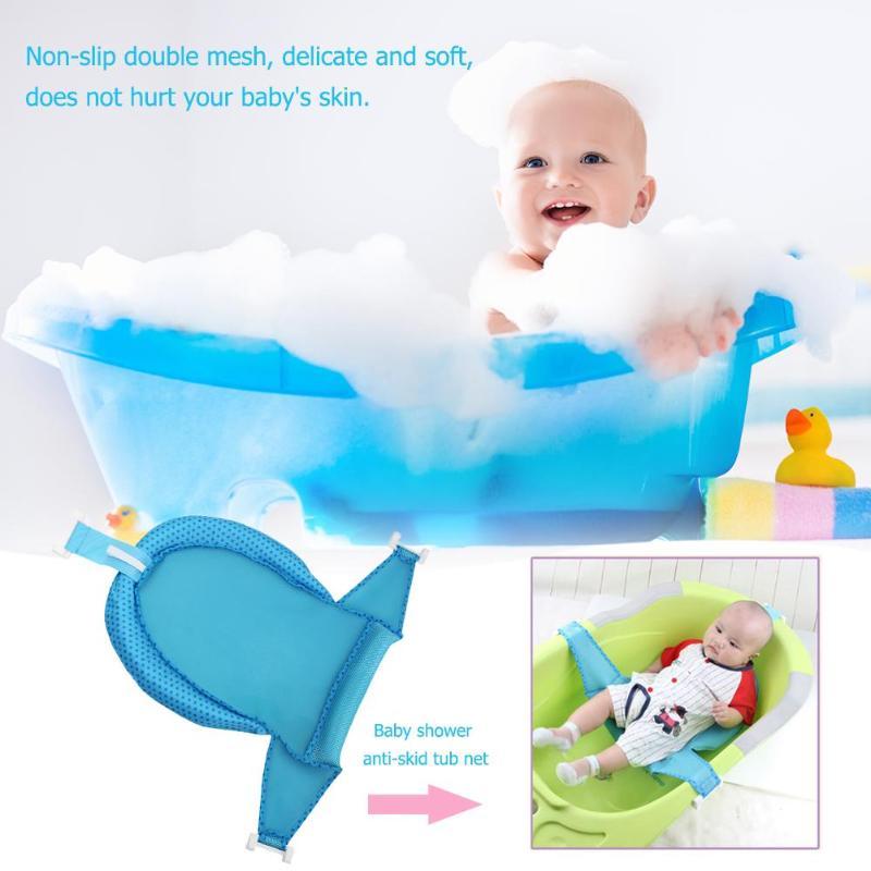 CoöPeratieve Baby Antislip Douche Bad Pasgeboren Baby Bad Netto Kid Veiligheid Seat Ondersteuning Peuter Baden Cradle Bed Douche Cradle Bed Seat