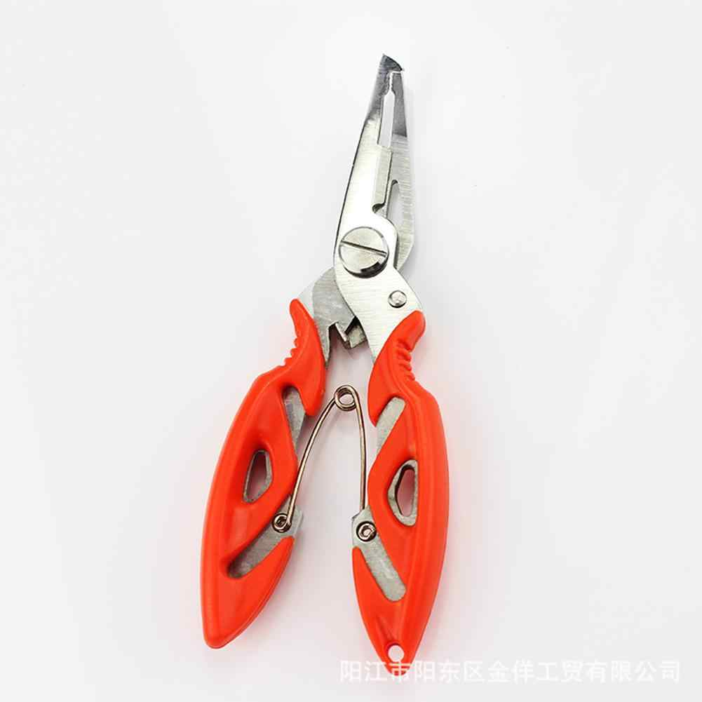 LanLan 1 pc דיג צבת פיצול טבעת מספריים אלומיניום חוט קו קאטר הוק מסירי חיצוני דיג כלים אקראי צבע
