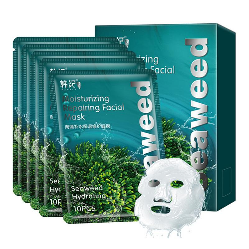 Deep Seaweed Sheet Mask Algae Tightening Mask Alginate Facial Rejuvenation Mask Shrinking Tenderness Shrinkage Pores Skin Care 4