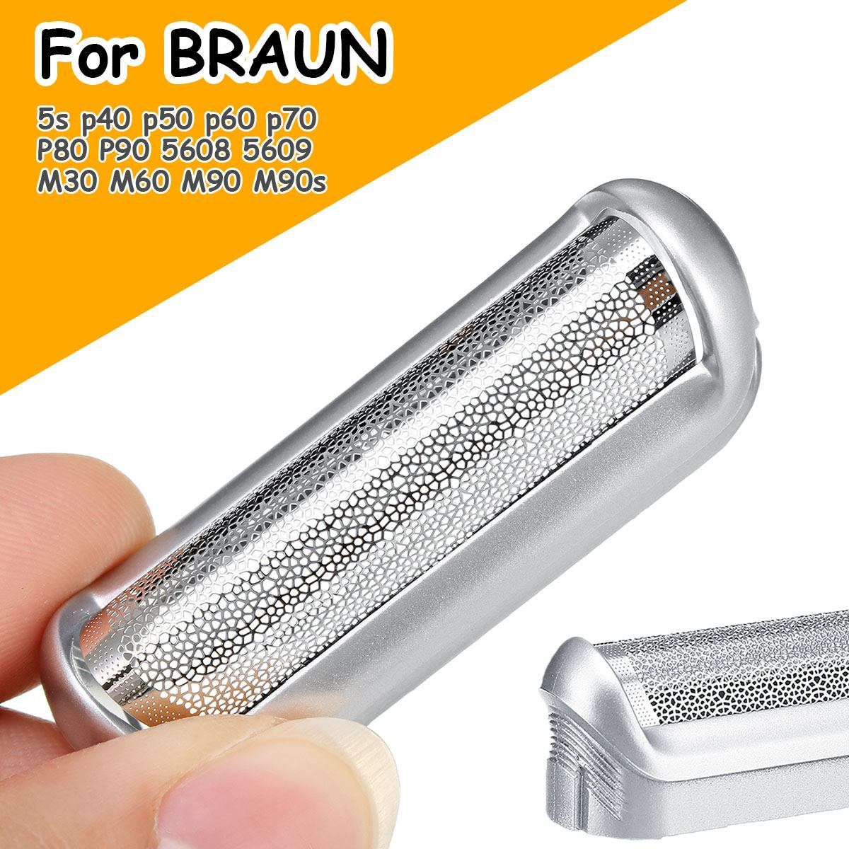 Shaver Replacement Head Foil Frame For BRAUN 5S For CruZer Twist P40 P50 P60 P70 P80 P90 5608 5609 550 575 M30 M60b M90 Shaver