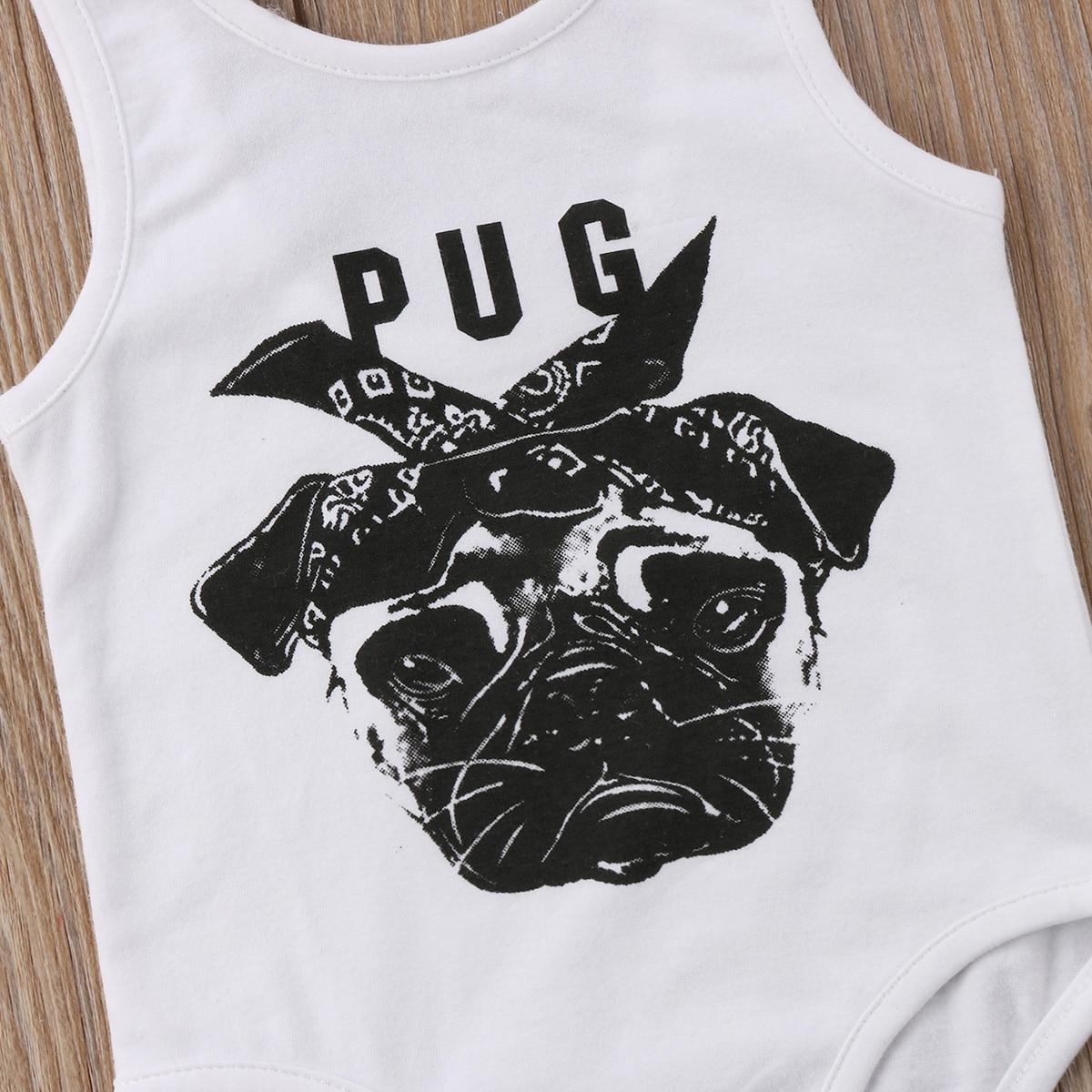 f097ecfa8 0 24M Newborn Baby Boy Girl Bulldog Sleevevless Vest Cute Pug Dog ...