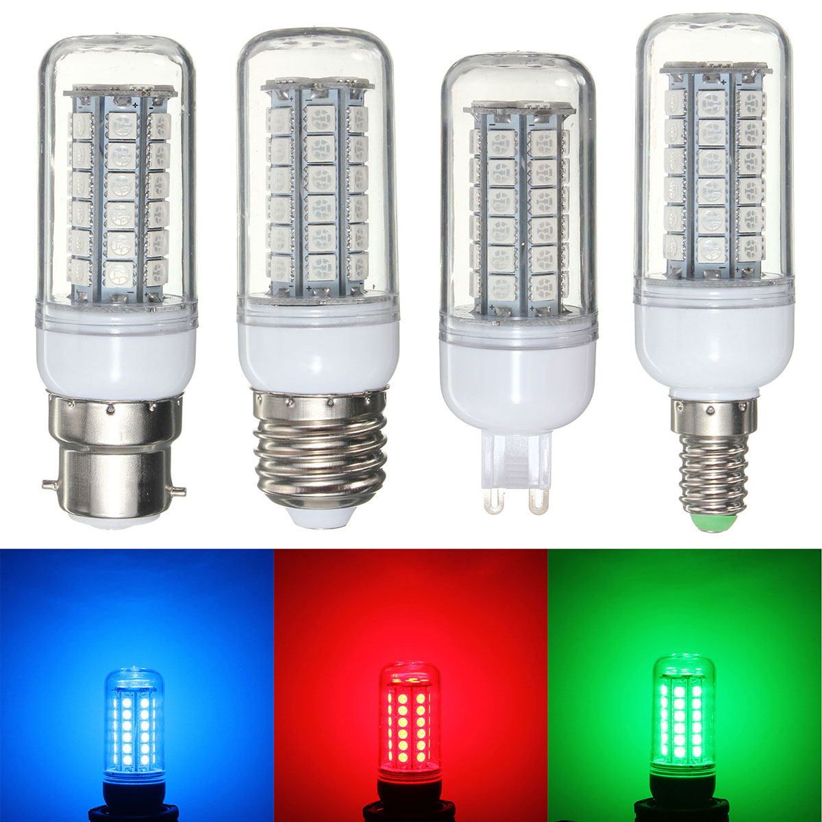5050 Smd 48 Led Light Bulb E27/e14/g9/b22 3.5w Red/green/blue 300lumen Energy Saving Plastic Lamp Bulb Non Dimmable Ac 220v 100% Original Lights & Lighting Led Bulbs & Tubes