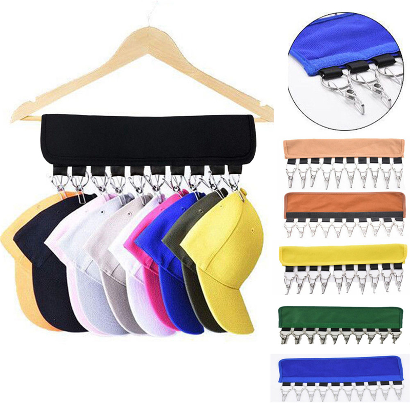 Foldable Hat Clip 12.8 Inches Modern Style 10 Cap Rack Baseball Hats Visors Door Hanger Holder Hook Storage OrganizerFoldable Hat Clip 12.8 Inches Modern Style 10 Cap Rack Baseball Hats Visors Door Hanger Holder Hook Storage Organizer