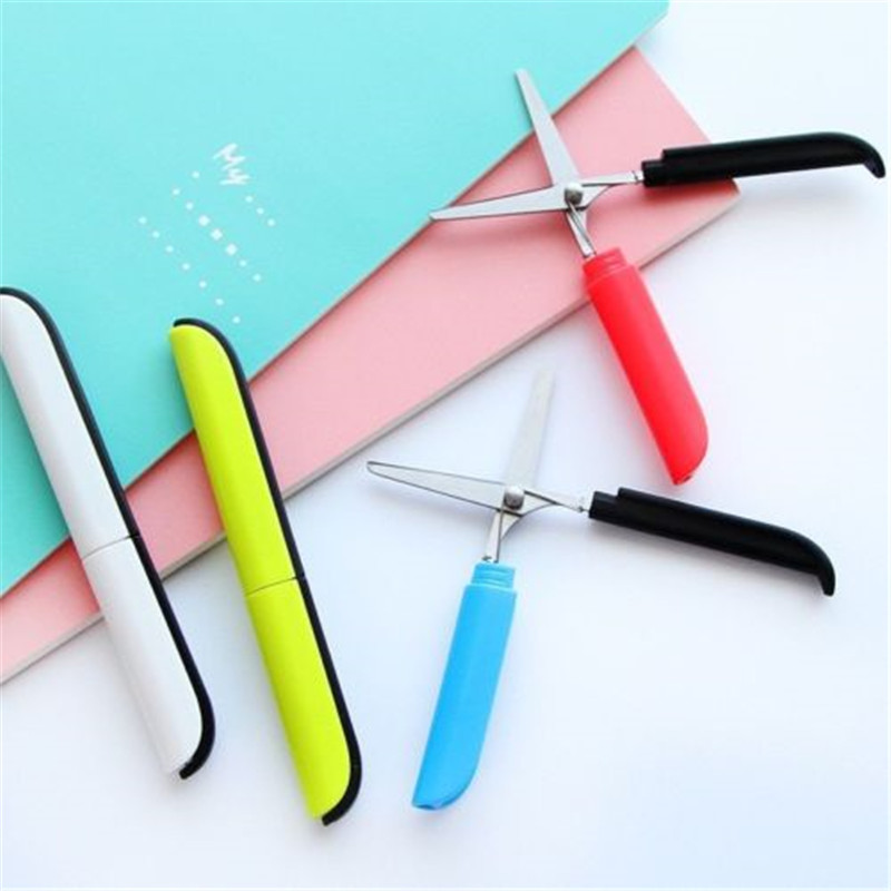 Scissors Scissor Student Kid Fold Office Diy School Home Art Child Preschool Photo Safe Stationery Paper Cut Blunt Tip Protect Portable Complete In Specifications