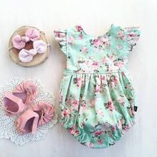 Toddler Baby Girls Clothes Summer Flying Sleeveless Floral Fashion Cotton