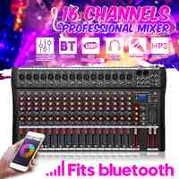 KINCO 16 Kanäle Audio Mixer mit USB DJ Sound Mischpult MP3 Jack Karaoke Verstärker Für Karaoke KTV Spiel-Party