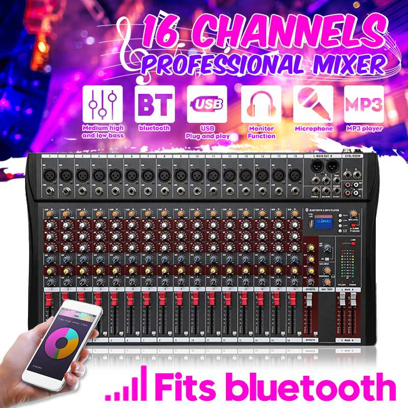 KINCO mélangeur Audio 16 canaux avec Console de mixage de son DJ USB amplificateur karaoké Jack MP3 pour karaoké KTV Match Party