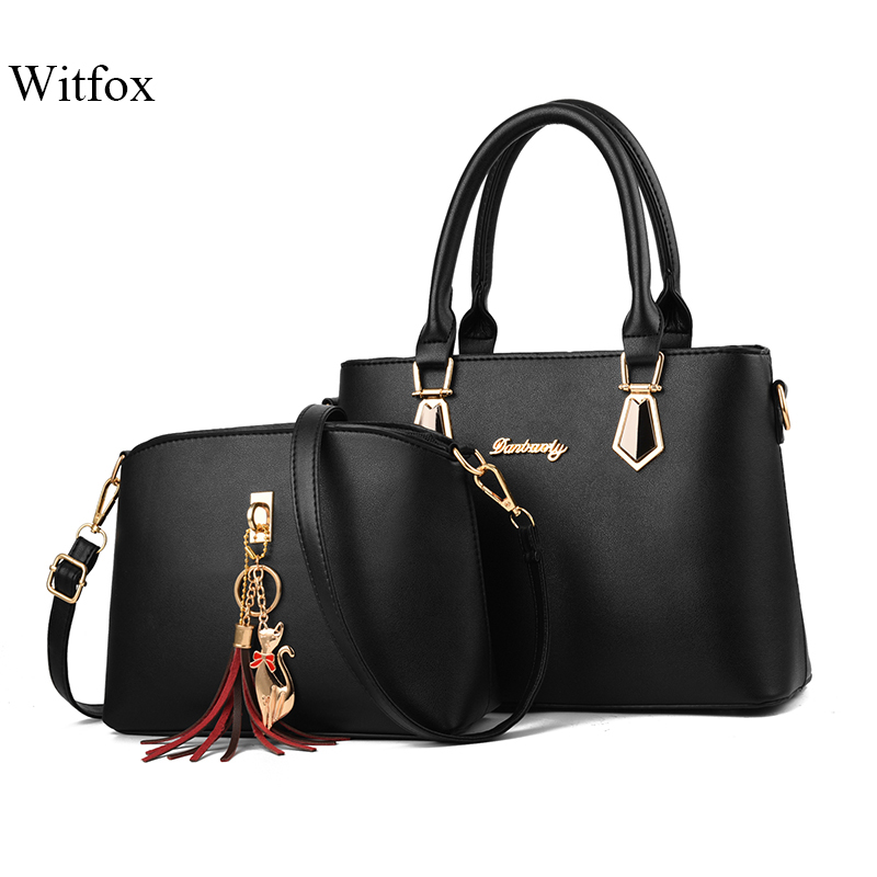 Witfox women bags set composite bag Metal Fox tassel  female shoulder tote ladies handbags 2019 fashion package Witfox women bags set composite bag Metal Fox tassel  female shoulder tote ladies handbags 2019 fashion package