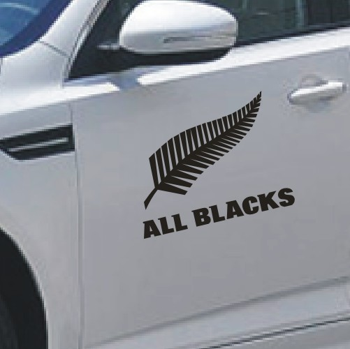 Product pictures car styling new zealand all blacks club logo pattern stickersfunny car decor sticker