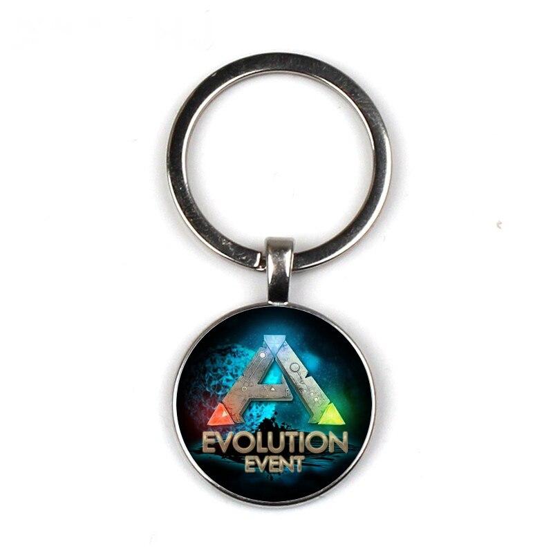Ark Survival Evolved Keychain Glass Time Gem Key Jewelry DIY Custom Photo Personality Gift personalized Keychains