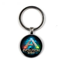 Ark Survival Evolved Keychain Glass Time Gem Key Jewelry DIY Custom Photo Personality Gift personalized Keychains