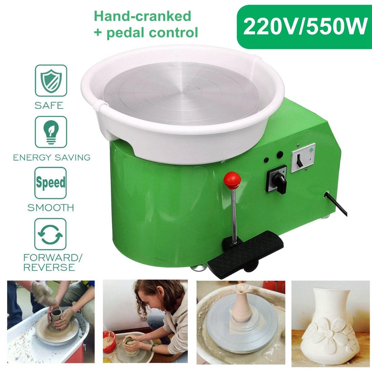 Tournant la Machine en céramique de roue de poterie électrique 220V 550W 300mm Kit de potier en céramique d'argile pour la céramique de travail en céramique