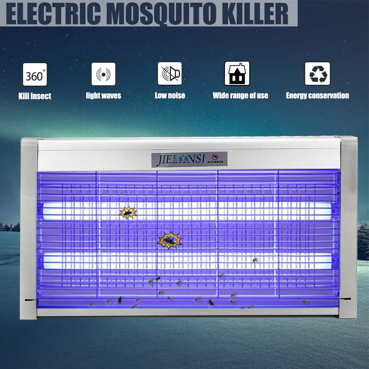 220 V choc électrique Anti moustique lampe lumières 40 W alimenté Bug Zapper moustique tueur lampes insecte tueur moustique parasite mouche piège