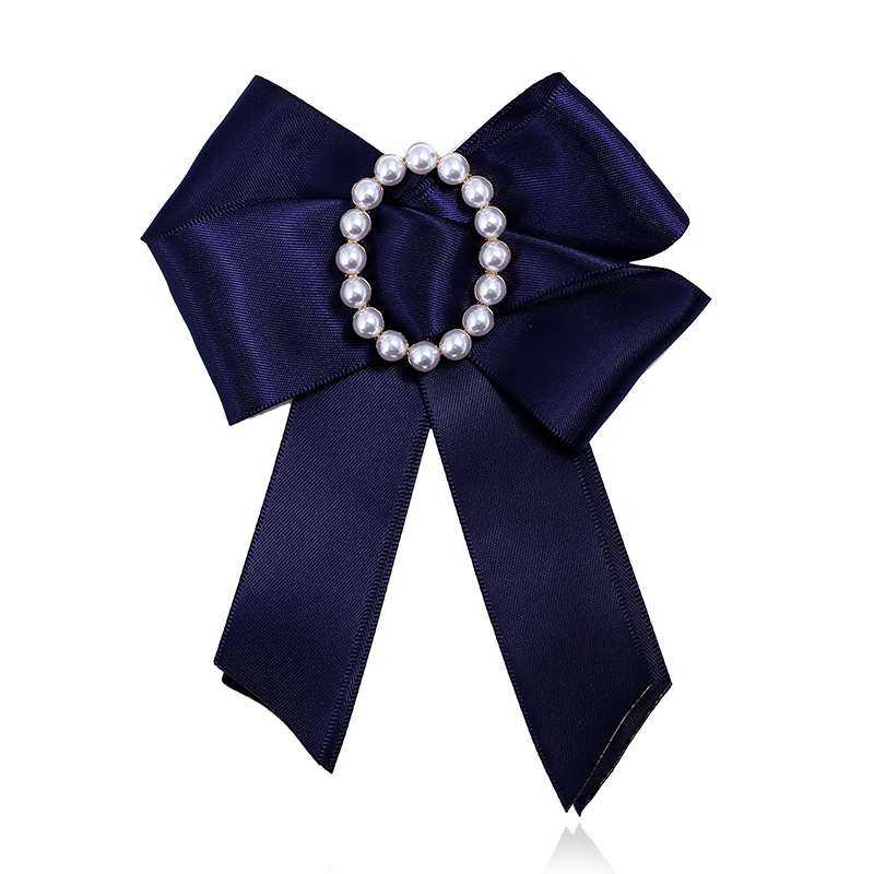1fa360600c6 2019 Fashion Soft Ribbon Fabric Bow Brooch Fashion Bow ties Flower Pearl Brooches  Pin Women Necktie Collar Shirt Brosh women-in Brooches from Jewelry ...