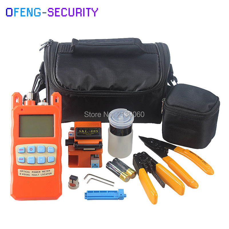 Fiber Optic FTTH Tool Kits with Fiber Cleaver SKL-60S, -70dBm~+10dBm Optical power meter with VFL 1mW, FTTH Drop Cable StripperFiber Optic FTTH Tool Kits with Fiber Cleaver SKL-60S, -70dBm~+10dBm Optical power meter with VFL 1mW, FTTH Drop Cable Stripper