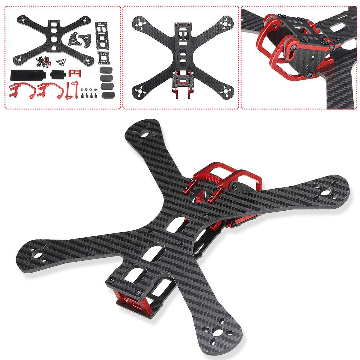 Chameleon 220mm 5 FPV Frame FPV Racing font b Drone b font Quadcopter frame FPV for