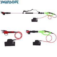 Extended telescopic rod Electric pruning shear lithium battery ultra long standby fence hedge trimmer